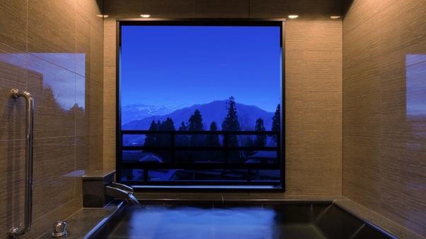 半露天風呂付和洋室 シモンズ製ベット採用の半露天風呂付客室
