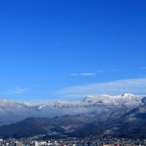 【冬の蔵王連峰】4F露天風呂から眺める冬の蔵王連峰は爽快!一見の価値ありです。