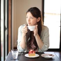 カフェスペースで優雅なヒトトキを・・・