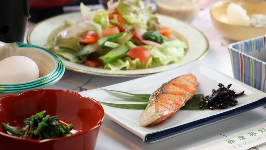 【ご朝食一例】新鮮野菜たっぷりの和朝食