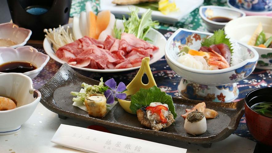 【ご夕食一例】女将の手作り!手間暇かけた山海の田舎料理をご賞味下さい。