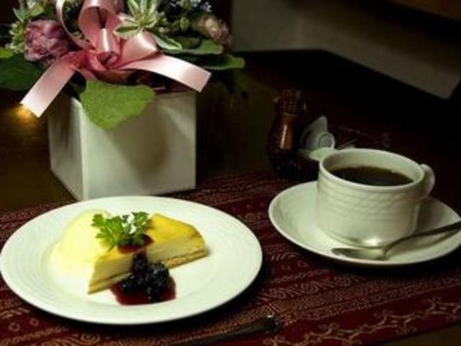 食後のコーヒーとデザート