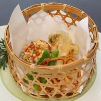 【冬の揚物】エリンギ海老挟み揚げ 南瓜チーズ射込みあられ揚げ
