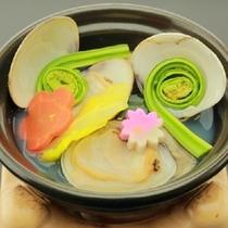 【春の椀替】ハマグリ潮仕立て 春キャベツ 菜の花 筍