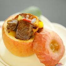 【早春の温物】牛柔らか煮リンゴ釜焼き(早春の名物料理)