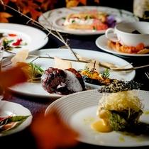 【ご夕食一例】秋季限定・日高の豊かな秋の食材を堪能する「フレンチフルコース・プラン」