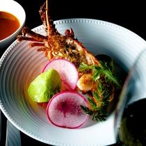 【ご夕食一例】ワンランク上の「グランデフルコース・プラン」冬メニューより お魚料理の一例