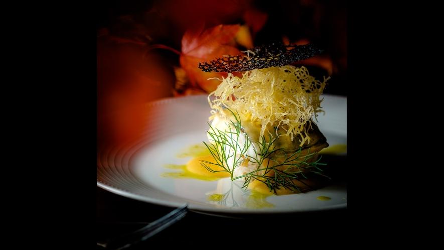 【ご夕食一例】「フレンチフルコースプラン」秋メニューより お魚料理の一例