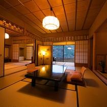 【お部屋:Aタイプ】 *建築家「二村和幸」設計の数奇屋造りの角部屋。日本の様式美の中で寛ぎのひと時。