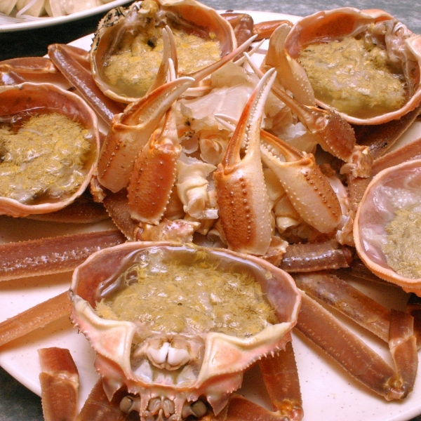 カニ料理の一例