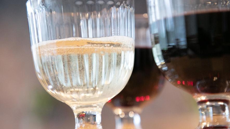 ■ウェルカムワイン■お酒好きであればぜひ♪ワインは赤と白を選べます。