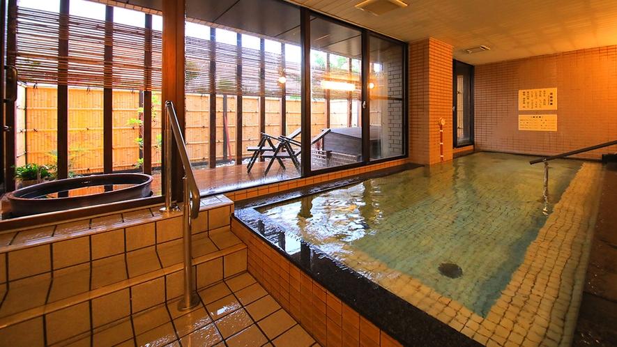 ■大浴場■炭酸カルシウム温泉(人工)は「心まで暖かく」日頃の疲れをほぐせます