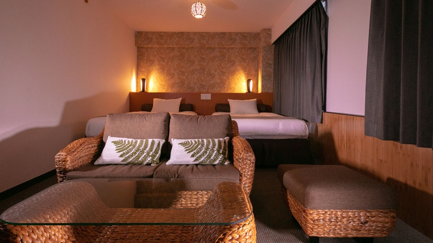 ■DXリニューアルツイン■エキゾチックでリゾート気分を味わえるお部屋に生まれ変わりました