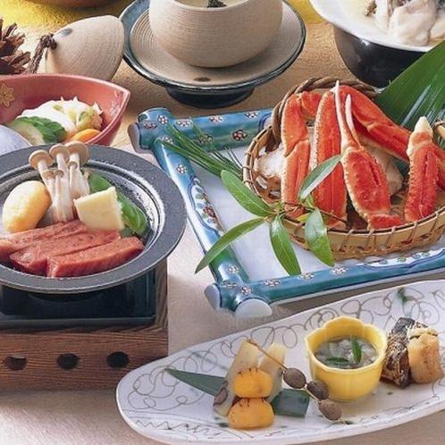 仙台黒毛和牛&ズワイ蟹付ご夕食