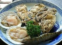 牡蠣・帆立・海老の盛合せ
