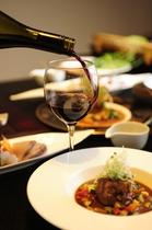 赤ワインと食事
