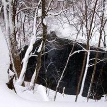雪の青池500