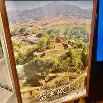 車で20分の距離に苗木城がございます。