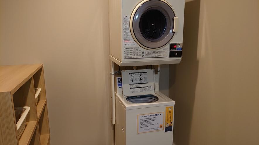 女性大浴場 脱衣所 大浴場にはコインランドリーを設置しております。