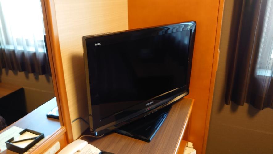 全客室にTVを設置しております。