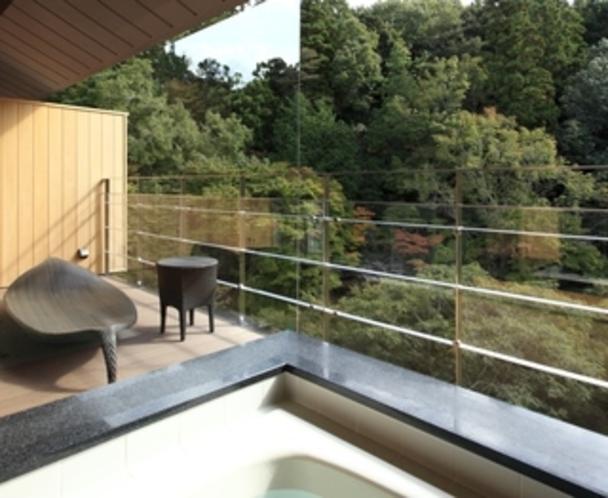 高層階テラス付き展望風呂からの眺め(イメージ)