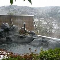 貸切露天風呂からの雪景色(一例)