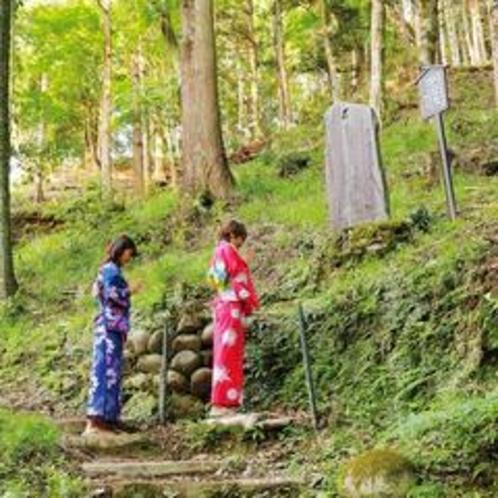 当館庭園内に、修善寺桂谷八十八ヵ所45〜49番があります。
