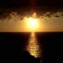 伊豆半島最南端石廊崎の夕日