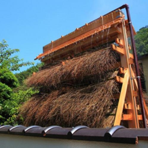 ■竹製温泉冷却装置