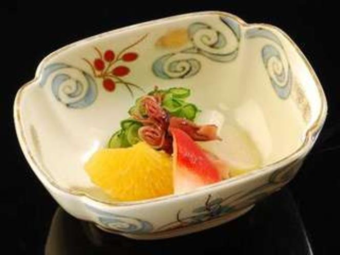 夕食の会席料理 酢の物(一例)
