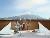 レストランからの富士山