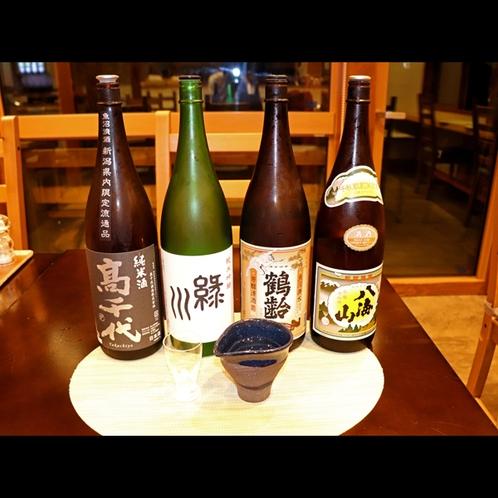 米どころ新潟の美味しいお酒をご用意しております。