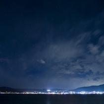 諏訪湖の夜景はまたステキ♪