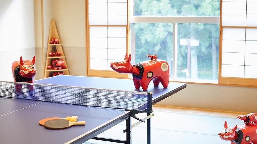 ★【卓球ルーム】みなさんが卓球をするときは、横で見守っています。