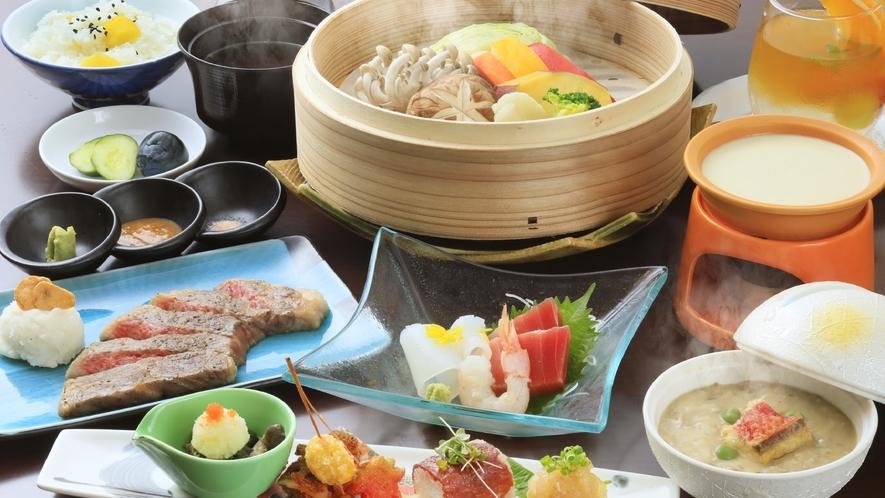 ★【基本/創作料理】当館の一番人気、基本のお食事。お肉と野菜のうまみ、日本酒とのペアリングを楽しんで