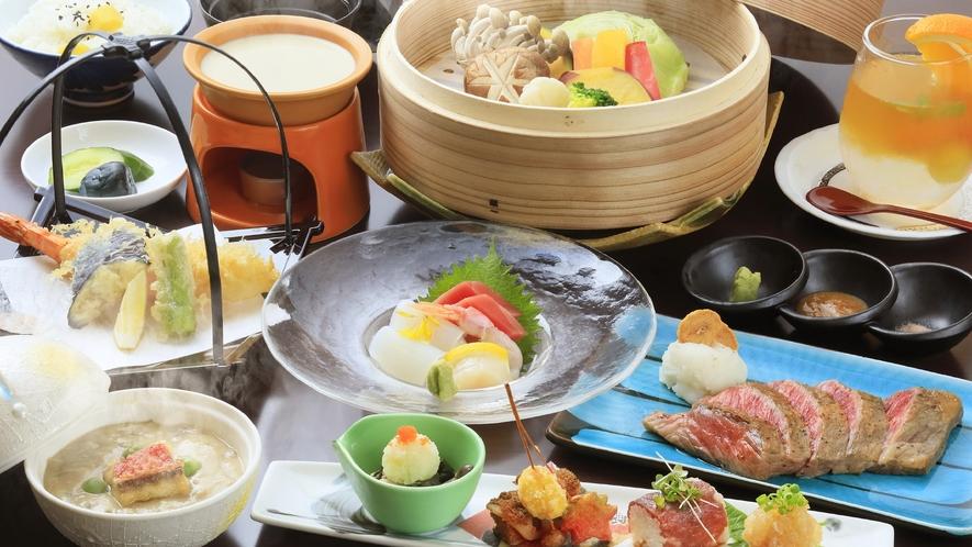 ★【特選/創作料理】メインは福島牛のステーキで、旅は食事重視な方におすすめ