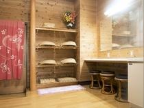 別館 畳風呂 万寿(まんじゅ)の湯 脱衣所