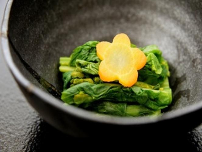 春の夕食2015年。菜の花。