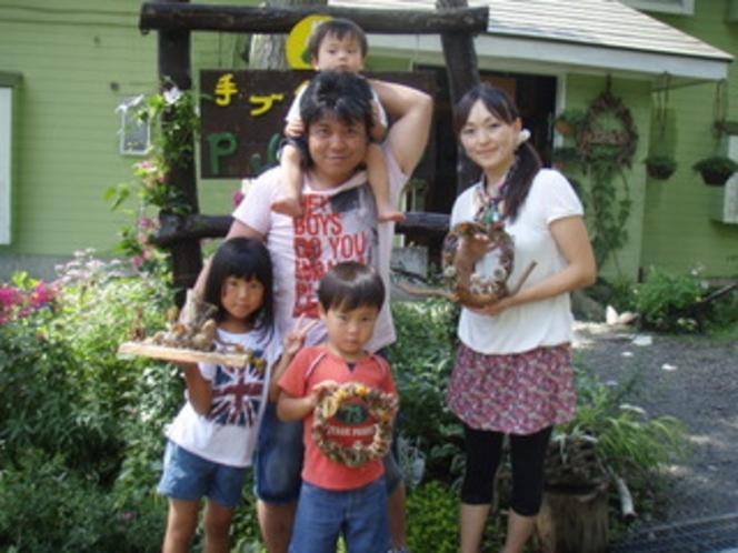 家族みんなで作ったリ-スステキに出来ました