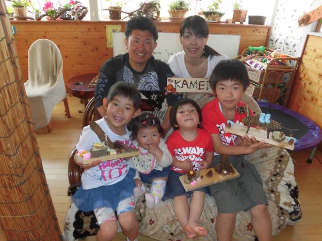 6人家族で工作体験