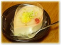 (夕食例)グレープフルーツのムース
