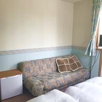 洋室客室2はツインルームです