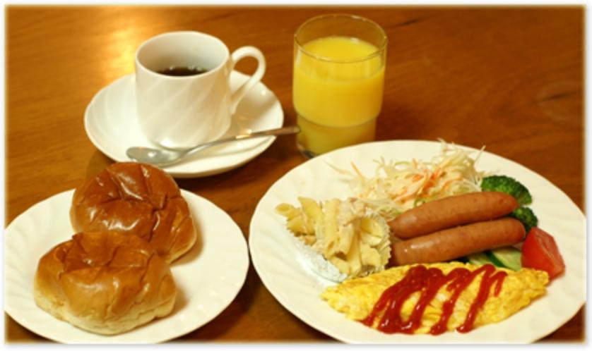 (朝食例)朝食は、アメリカンブレックファスト形式となっております。