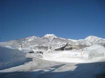 赤倉観光リゾートスキー場と妙高山