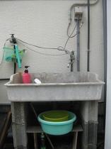 外の手洗い場
