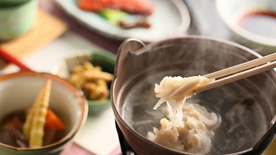 朝食の一例 長野県の無形民俗文化財「早そば」