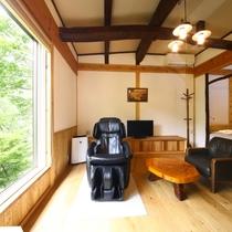 山法師客室:山荘風客室は別荘のような雰囲気。