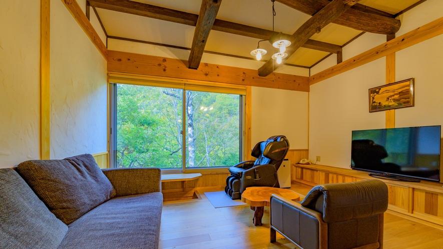 山法師の間 山荘風12畳、展望風呂が付いているお部屋です。