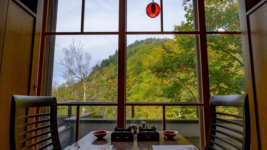 お食事と景色をお楽しみください