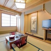 竹の間(7畳):にごり湯の温泉付客室